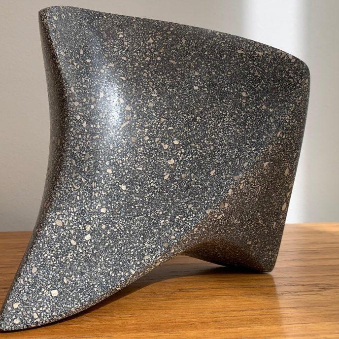 POISED - Black polished limestone concrete £750 15x14.5x9.5cm edition 110