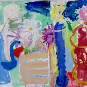 Coffee Pot and Dahlias II Sophie Bartlett