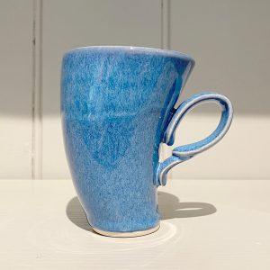 Dancer Mug Fluted Ceramic Stoneware Cobalt Blue
