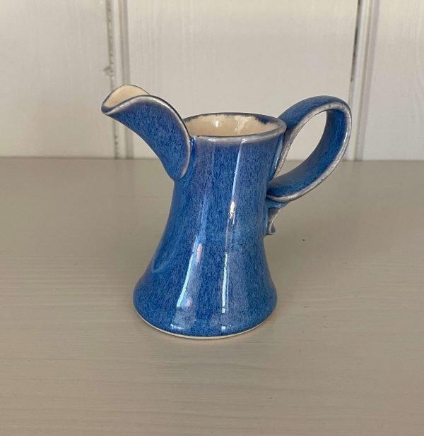 Ceramic glazed dressing jug denim blue