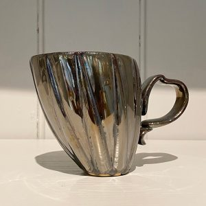 Dancer Mug Ceramic Stoneware Antique Gold
