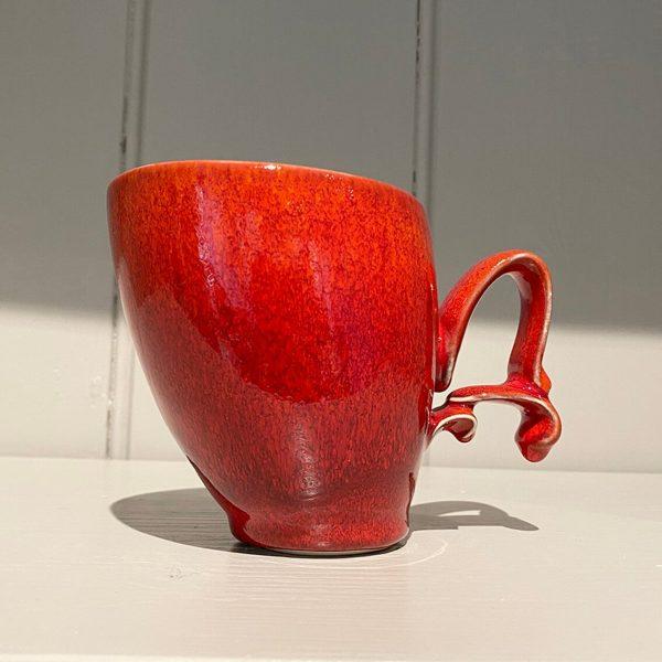 Dancer Mug Ceramic Stoneware Bright Red