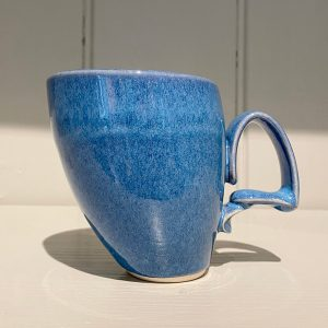 Jaroslav Hrustalenko Dancer Mug Ceramic Stoneware Cobalt Blue