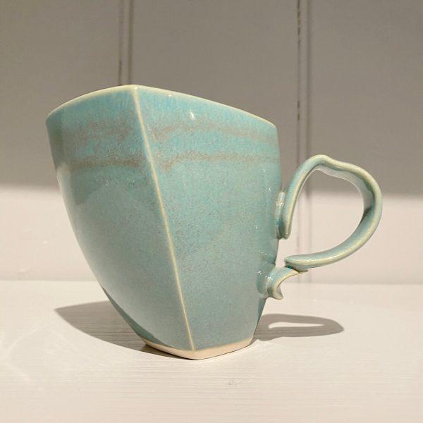 Dancer Mug Ceramic Stoneware Square Soft Green