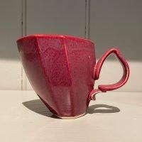 Dancer Mug Hexagonal Ceramic Stoneware Raspberry