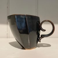 Dancer Mug Hexagonal Ceramic Stoneware Muted Black