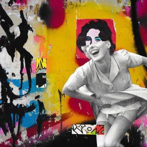 Warhol Pasteup by Liz Pounsett