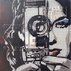 Cine girl peg board by Shelley Dyer-Gibbins