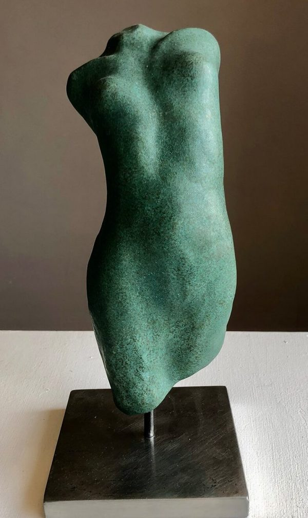 Mia Ceramic Torso - Green by Susie Hartley