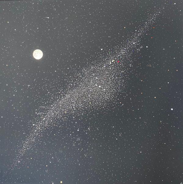 Milky Way and Moon by Georgina Pearce